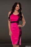 Knielanges Kleid in Pink K79